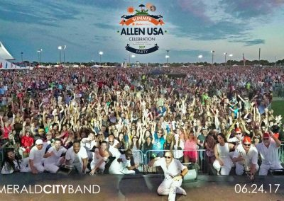 Emerald City playing at Allen USA Celebration