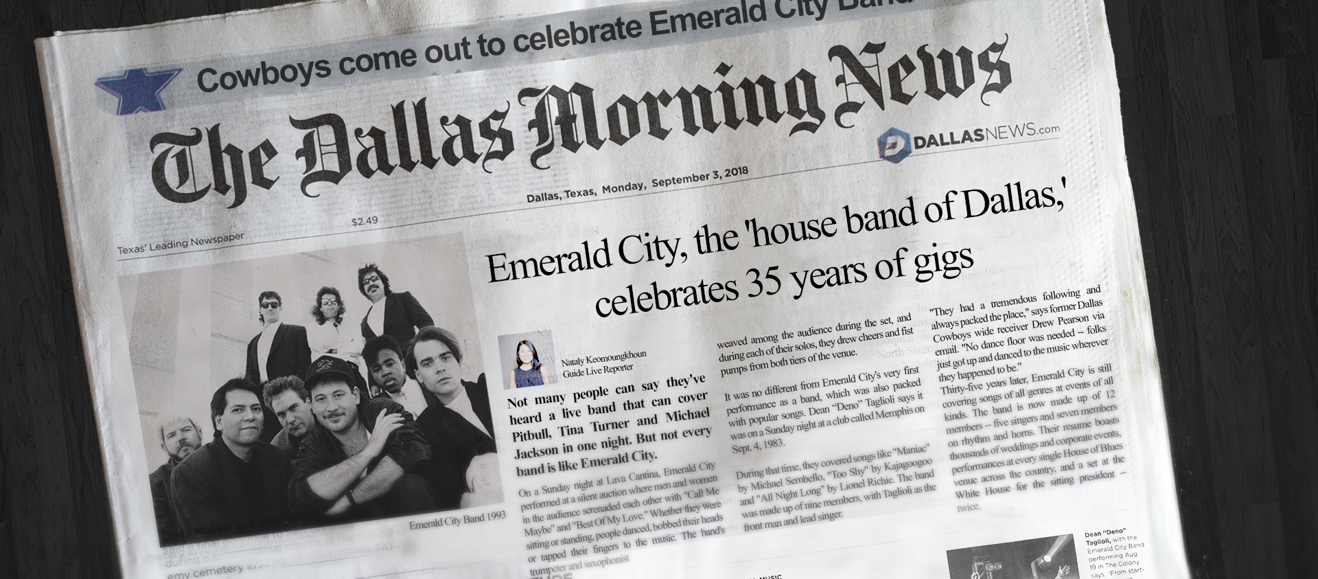 Emerald City, the 'house band of Dallas,' celebrates 35